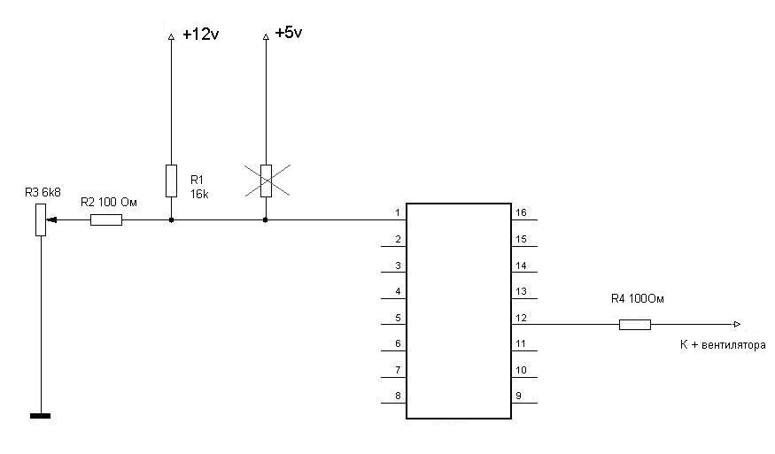 ИЗ ATX схема простого БП