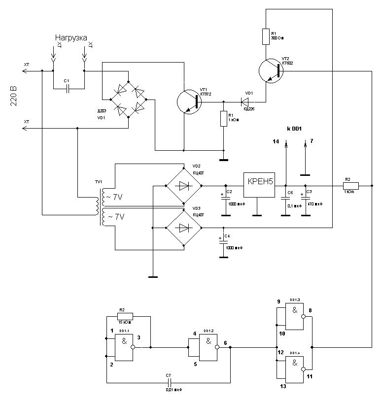 Схема частотника для остановки электросчетчика своими руками