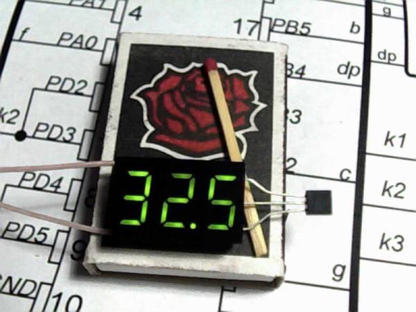Крошечный термометр на